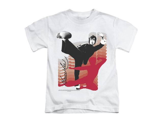 Bruce Lee Little Boys' Kick It Childrens T-shirt 4 White