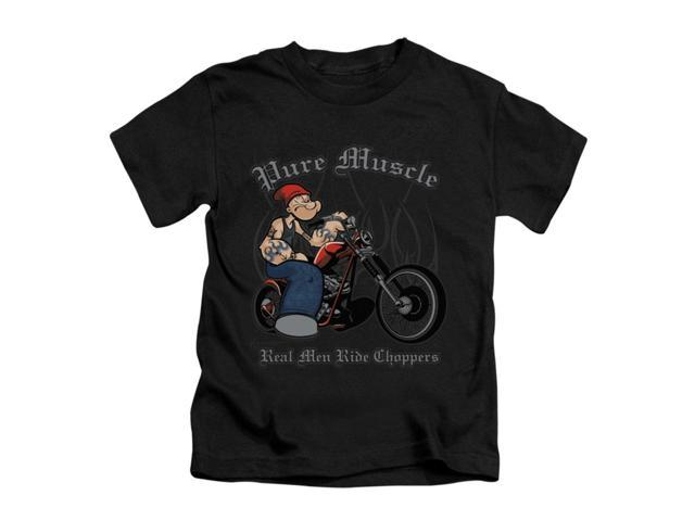 Popeye Little Boys' Pure Muscle Childrens T-shirt 4 Black