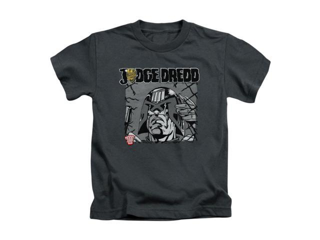 Judge Dredd Little Boys' Fenced Childrens T-shirt 4 Charcoal