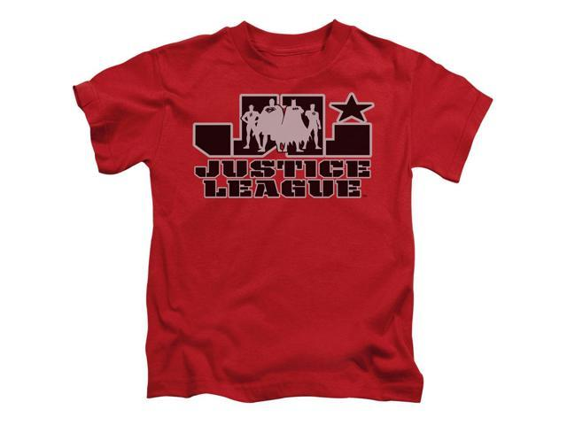 Justice League Of America Little Boys' Jla Logo Childrens T-shirt 4 Red
