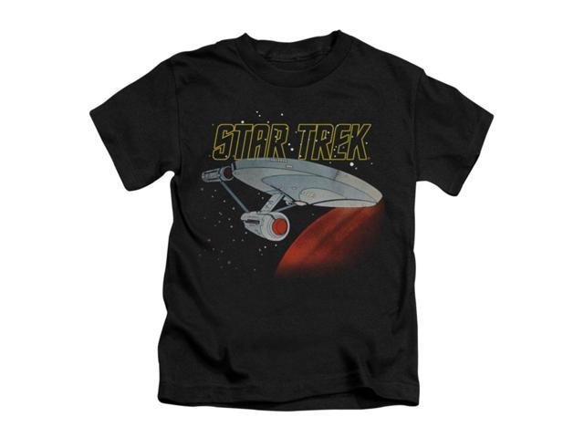 Star Trek Little Boys' Retro Enterprise Childrens T-shirt 4 Black