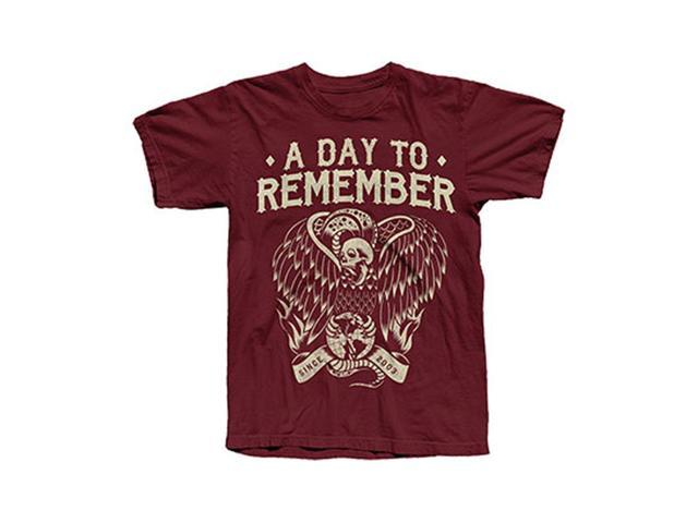A Day To Remember Men's Vulture T-shirt Large Maroon