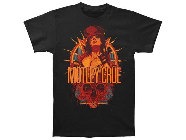Motley Crue Men's MC Girl Tee Slim Fit T-shirt Medium Black