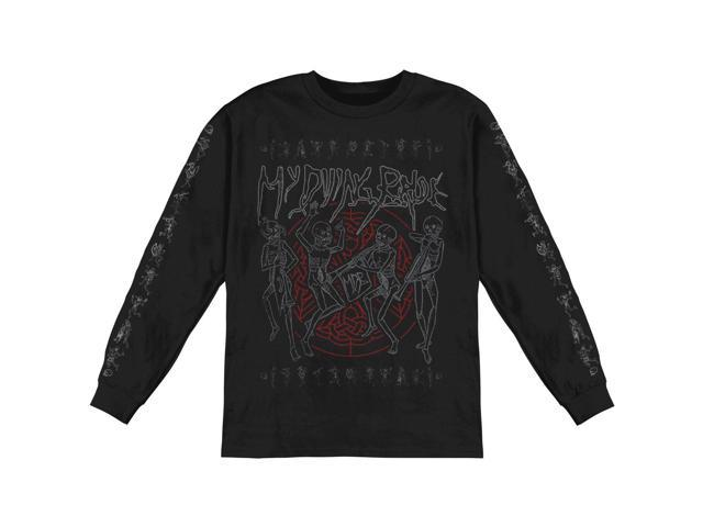 My Dying Bride Men's Skeletal Band  Long Sleeve X-Large Black