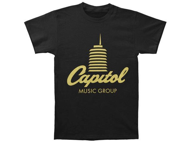 Capitol Records Men's Tower Logo T-shirt XX-Large Black