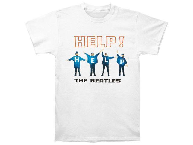 Beatles Men's Help Silhouettes T-shirt Large White