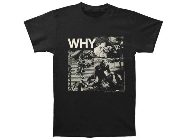 Discharge Men's Why T-shirt X-Large Black