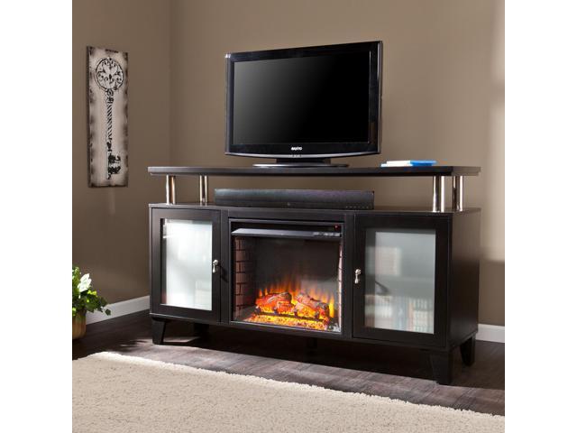 Tiberias Media Fireplace Black