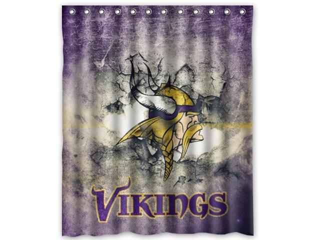 Minnesota Vikings 01 Pattern Polyester Fabric Shower