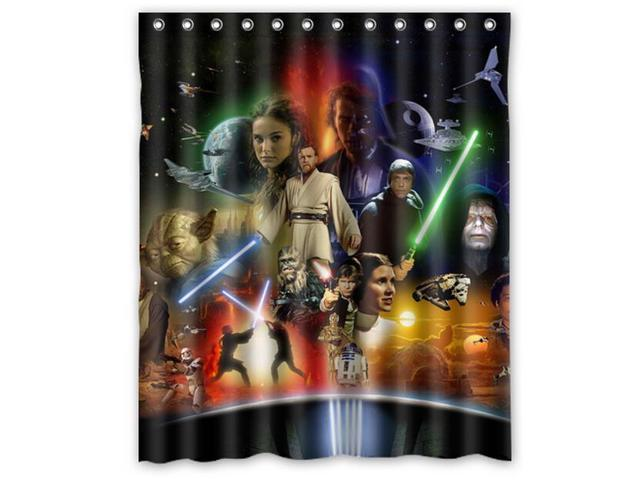 Han solo yoda darth vader pattern polyester fabric shower curtain 60