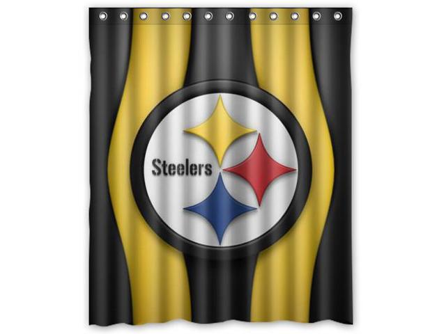 Pittsburgh Steelers 04 Pattern Polyester Fabric Shower Curtain 60 By 72