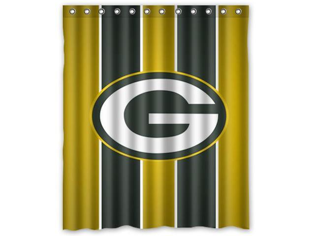 Green Bay Packers 02 Pattern Polyester Fabric Shower Curtain 60 By 72