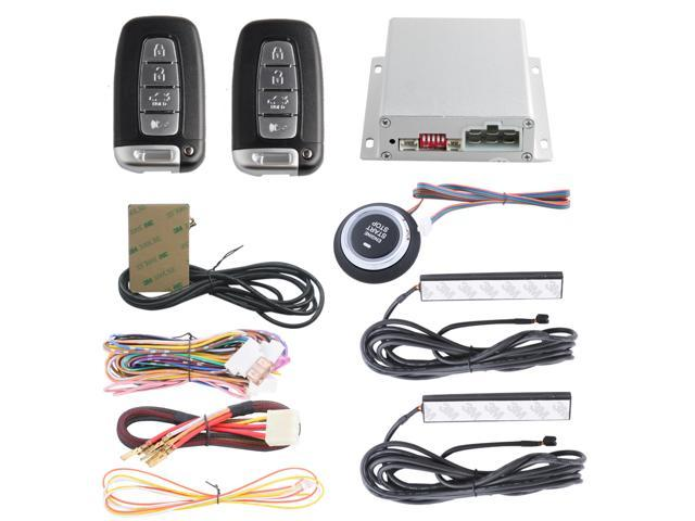 pke car alarm system with 4 key remote control remote engine startstop