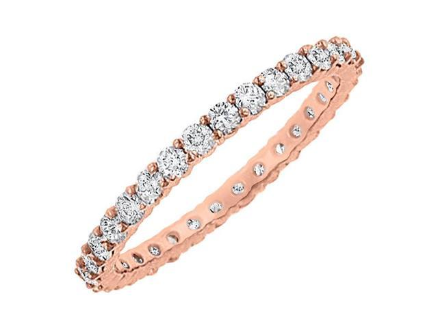 Diamond Eternity Bangle in 14K Rose Gold 10.00.ct.tw