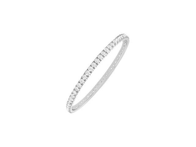 Diamond Eternity Bangle  18K White Gold - 2.00 CT Diamonds