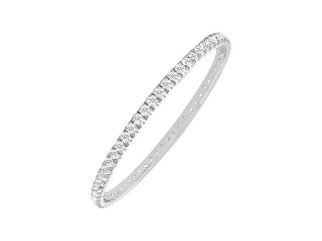 Diamond Eternity Bangle  18K White Gold - 5.00 CT Diamonds