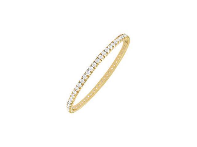 Diamond Eternity Bangle  18K Yellow Gold - 2.00 CT Diamonds