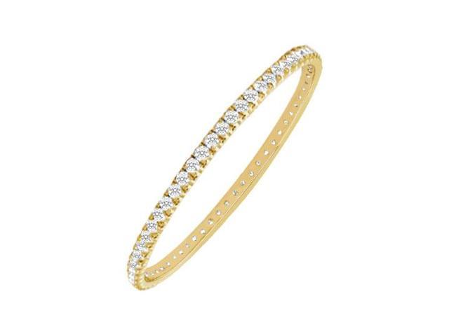 Diamond Eternity Bangle  18K Yellow Gold - 5.00 CT Diamonds