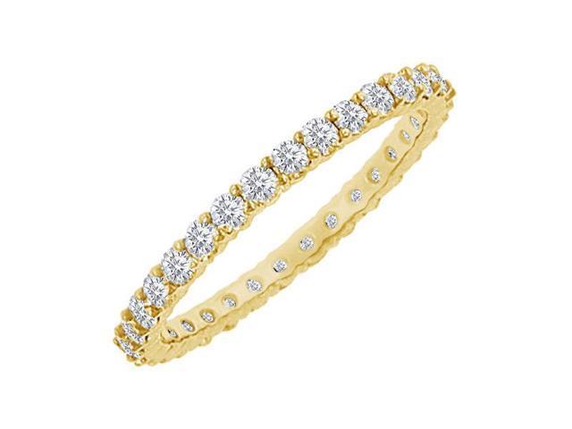 Diamond Eternity Bangle  18K Yellow Gold - 6.00 CT Diamonds