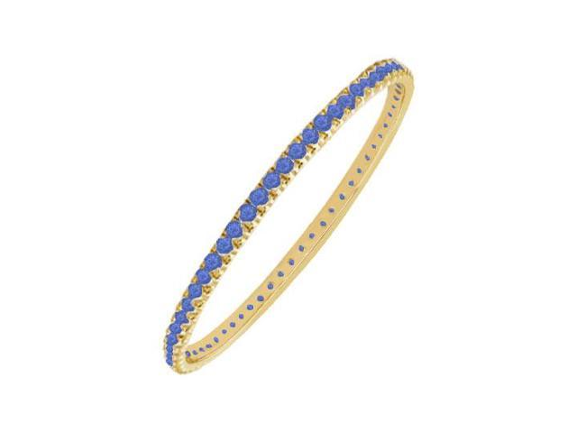 Sapphire Eternity Bangle  14K Yellow Gold - 5.00 CT TGW