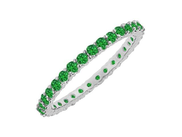Emerald Eternity Bangle  14K White Gold - 6.00 CT TGW