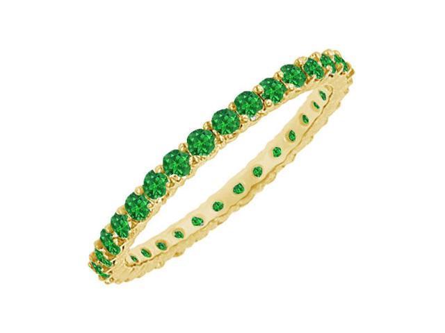 Emerald Eternity Bangle  14K Yellow Gold - 6.00 CT TGW