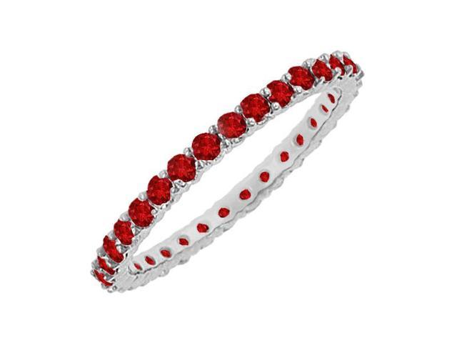 Ruby Eternity Bangle  14K White Gold - 6.00 CT TGW