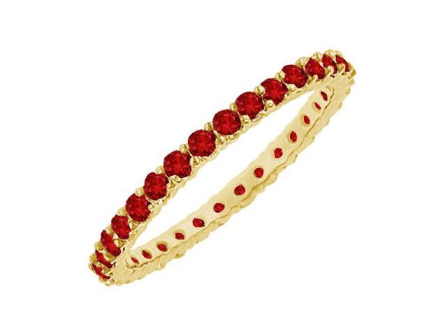 Ruby Eternity Bangle  14K Yellow Gold - 6.00 CT TGW