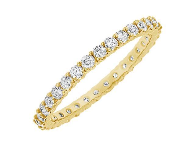 Diamond Eternity Bangle  14K Yellow Gold 10.00 CT Diamonds
