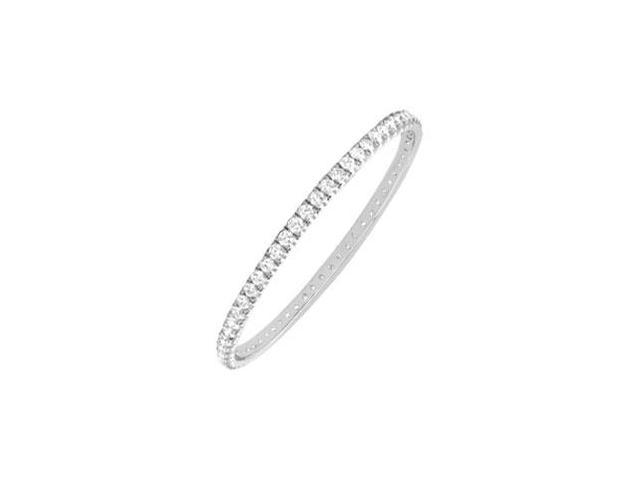 Diamond Eternity Bangle  14K White Gold 2.00 CT Diamonds