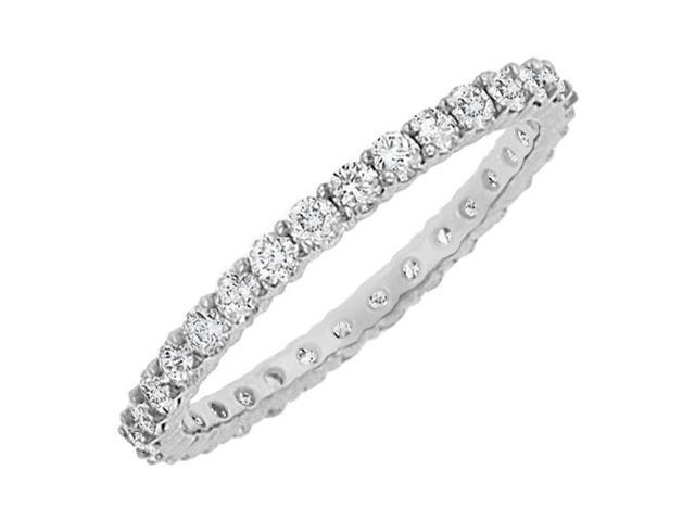 Diamond Eternity Bangle  14K White Gold 10.00 CT Diamonds