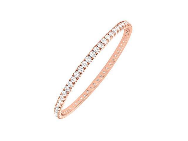 Diamond Eternity Bangle in 14K Rose Gold 3.00.ct.tw