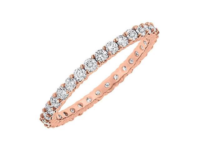 Diamond Eternity Bangle in 14K Rose Gold 6.00.ct.tw