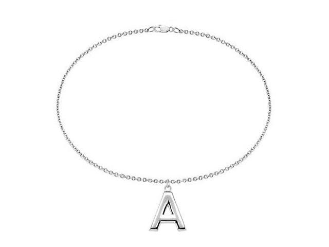 Sterling Silver Initial A Charm Bracelet