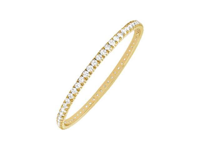 Diamond Eternity Bangle  14K Yellow Gold 5.00 CT Diamonds