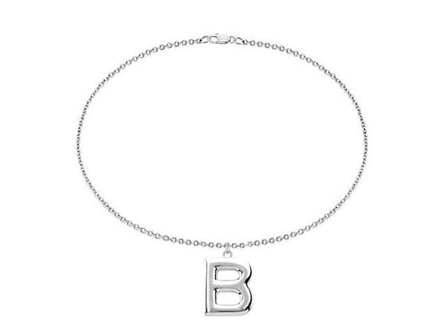 Sterling Silver Initial B Charm Bracelet