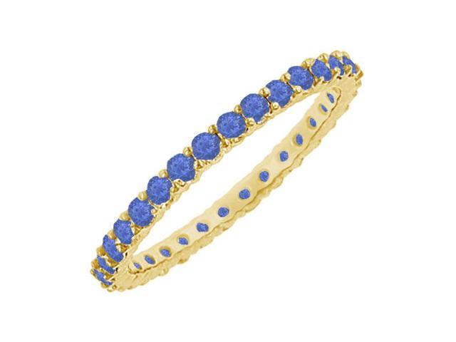 Sapphire Eternity Bangle  14K Yellow Gold - 6.00 CT TGW
