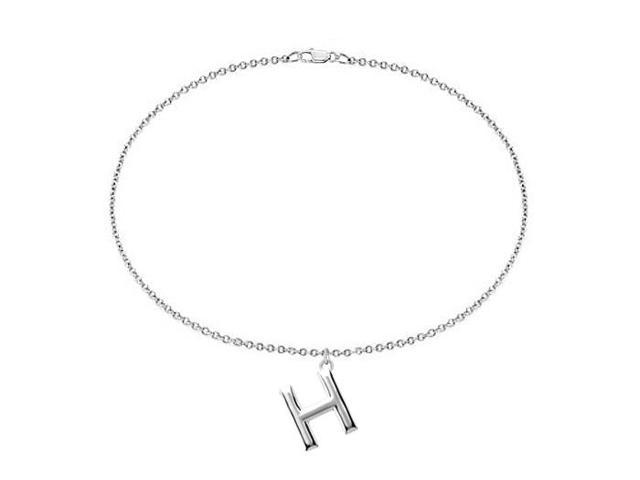 Sterling Silver Initial H Charm Bracelet