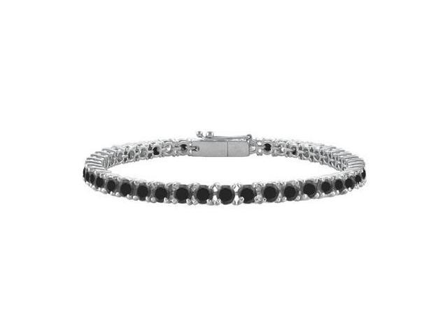 Black Diamond Tennis Bracelet  925 Sterling Silver - 5.00 CT Diamonds