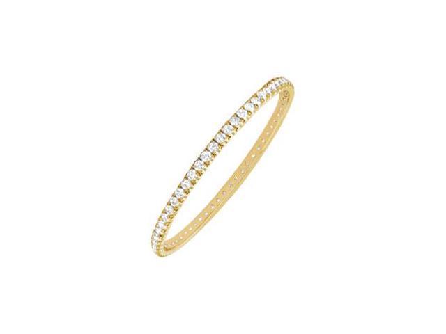 Diamond Eternity Bangle  14K Yellow Gold 2.00 CT Diamonds