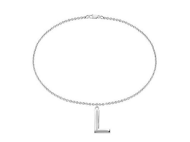 Sterling Silver Initial L Charm Bracelet