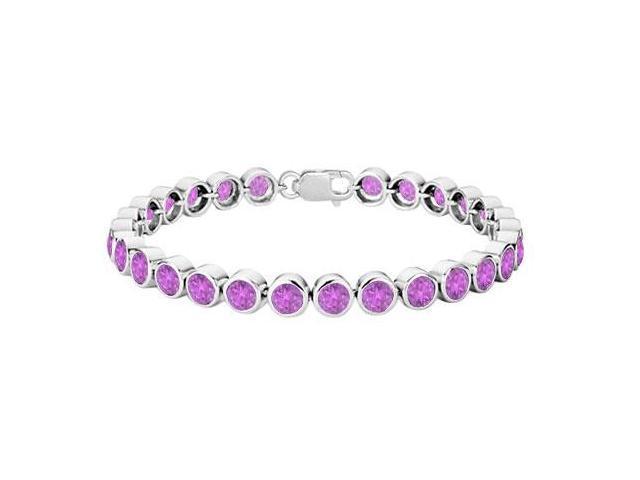 Amethyst Bezel-Set Tennis Bracelet  .925 Sterling Silver  25.00 CT TGW