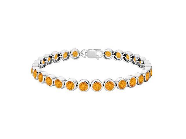 Citrine Bezel-Set Tennis Bracelet  .925 Sterling Silver  25.00 CT TGW