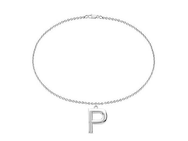 Sterling Silver Initial P Charm Bracelet