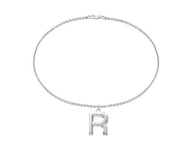 Sterling Silver Initial R Charm Bracelet