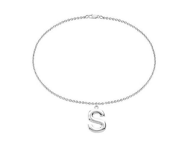 Sterling Silver Initial S Charm Bracelet