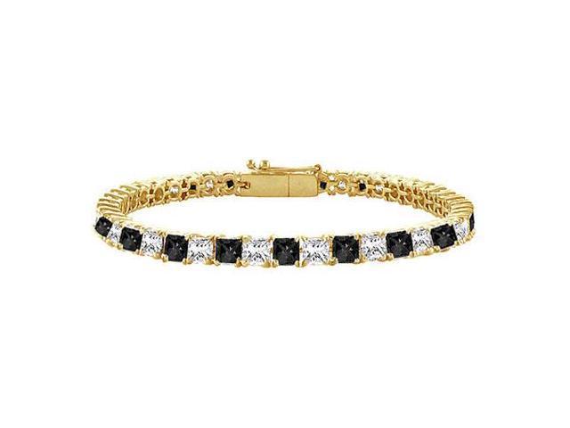 Black and White Diamond Tennis Bracelet with 3 CT Diamonds