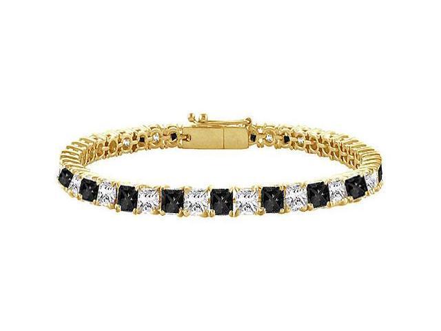 Black and White Diamond Tennis Bracelet with 7CT Diamonds