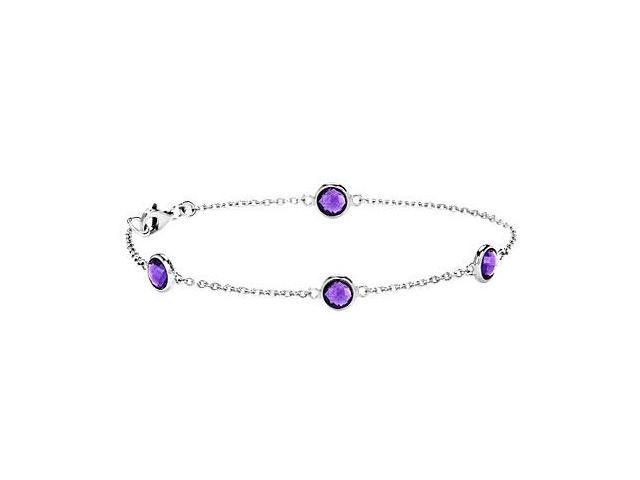 Amethyst Bracelet  .925 Sterling Silver - 2.00 CT TGW