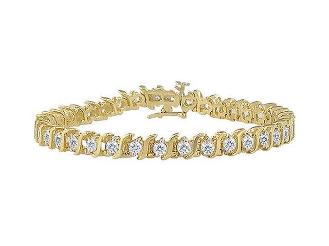 Diamond S Bracelet  14K Yellow Gold - 5.00 CT Diamonds